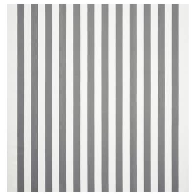 SOFIA Fabric, broad-striped/white/grey, 150 cm