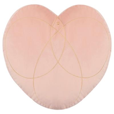 SOLGLIMTAR Cushion, heart/pink