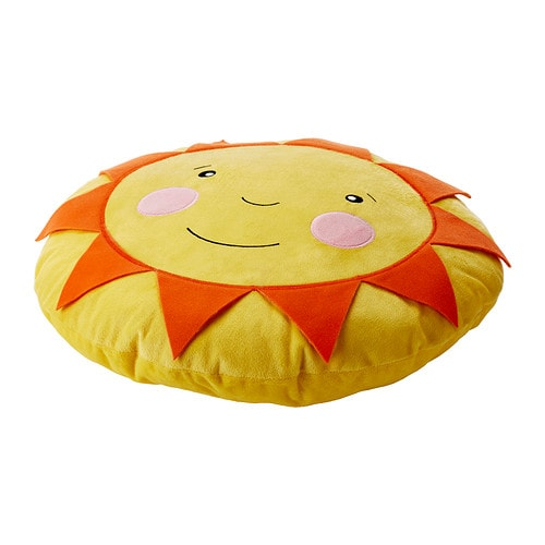 SOLIGT Cushion IKEA The cushion is soft to hug and big enough to use as back support when reading or playing.  Easy to keep clean: machine washable.