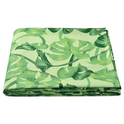 SOMMARLIV tablecloth leaf patterned/green 320 cm 145 cm