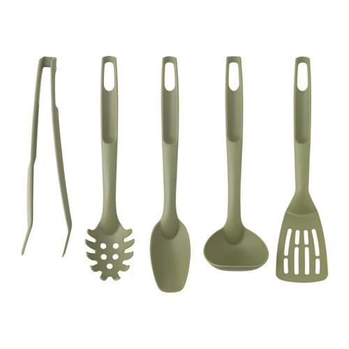 Speciell 5 piece kitchen utensil set ikea for Kitchen set environment