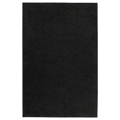 SPORUP Rug, low pile, black, 133x195 cm