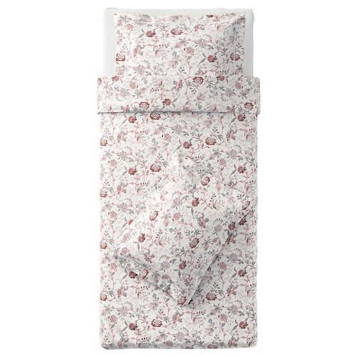 SPRÄNGÖRT quilt cover and 2 pillowcases white/pink 250 /inch² 2 pieces 200 cm 150 cm 50 cm 80 cm