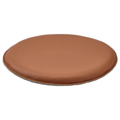 STAMFLY Chair pad, Grann golden-brown, 36 cm