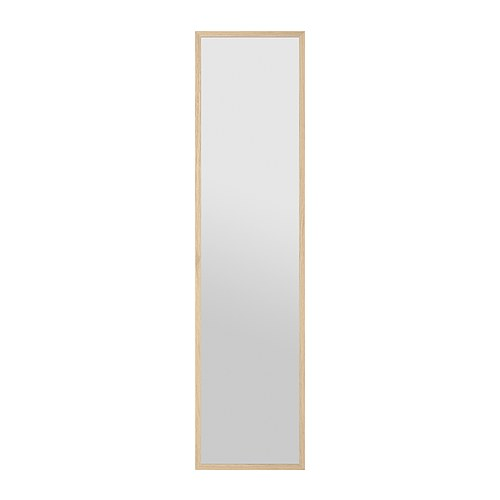 STAVE Mirror IKEA The mirror can be made turnable, if you choose to mount it with the included hinges.  Can be hung horizontally or vertically.