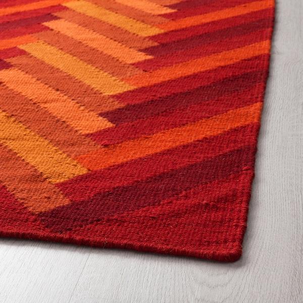 STOCKHOLM 2017 Rug, flatwoven, handmade/zigzag pattern orange, 170x240 cm