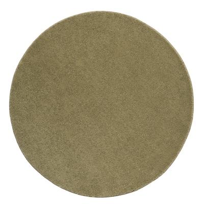 STOENSE Rug, low pile, light olive-green, 130 cm