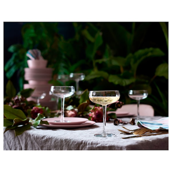 STORHET Champagne coupe, clear glass, 30 cl