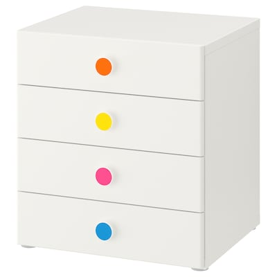 STUVA / FÖLJA Storage combination with drawers, white, 60x50x64 cm