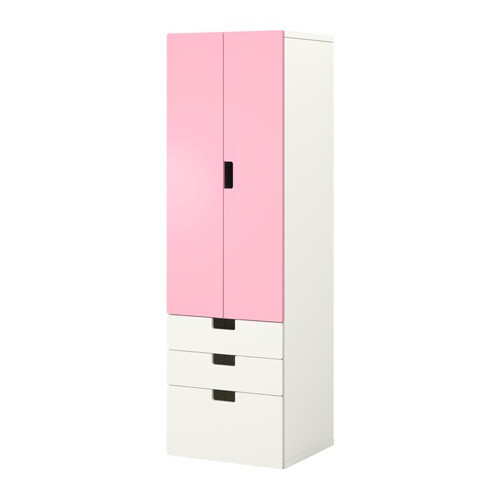 STUVA Storage combination w doors/drawers IKEA Doors with integrated damper for silent and soft closing.