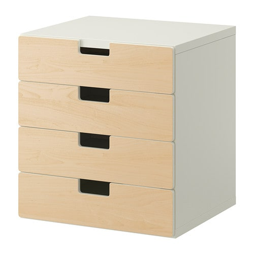 STUVA Storage combination with drawers IKEA Low storage makes it easier for children to reach and organise their things.