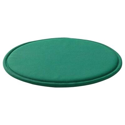 SUNNEA Chair pad, green/Lofallet, 36x2.5 cm