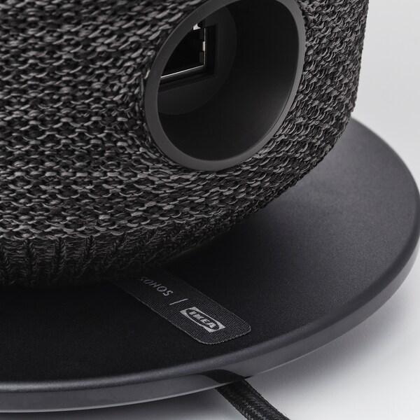 SYMFONISK Table lamp with WiFi speaker, black