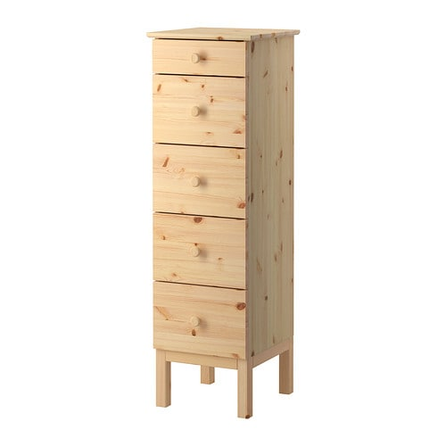 TARVA Chest of 5 drawers IKEA Made of solid wood, which is a hardwearing and warm natural material.
