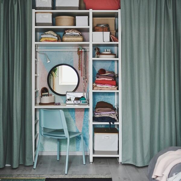 TIBAST Curtains, 1 pair, green, 145x250 cm