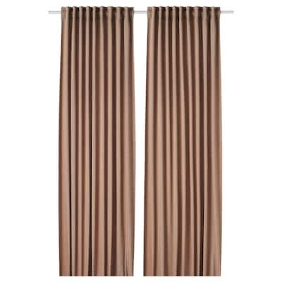TIBAST Room darkening curtains, 1 pair, dark red, 145x250 cm