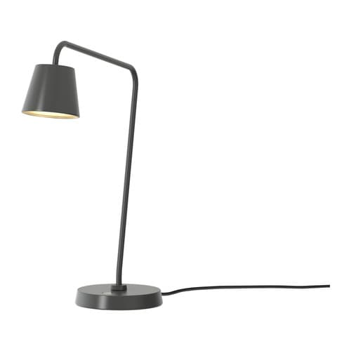 TISDAG LED work lamp IKEA Reading lamp with adjustable arm for easy directing of light.