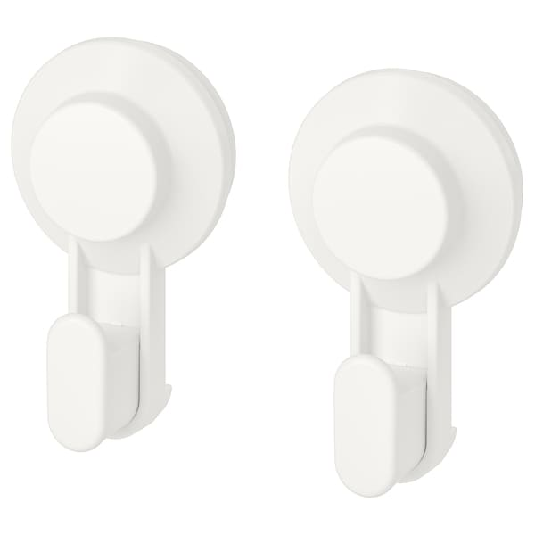 TISKEN Hook with suction cup, white