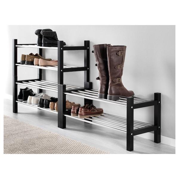 TJUSIG Shoe rack, black, 79x32x37 cm