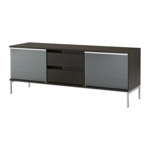 TOBO TV bench IKEA Sliding doors take up the same amount of space whether open or closed and allow you to show off or hide things.