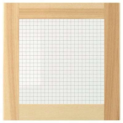 TORHAMN Glass door, natural ash, 40x40 cm