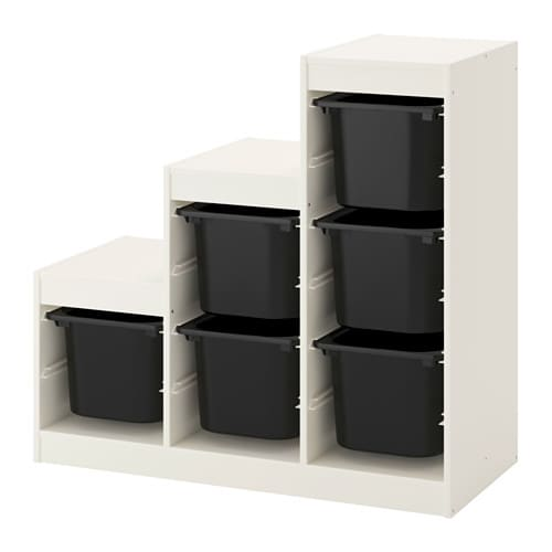 TROFAST Storage combination - white/black - IKEA
