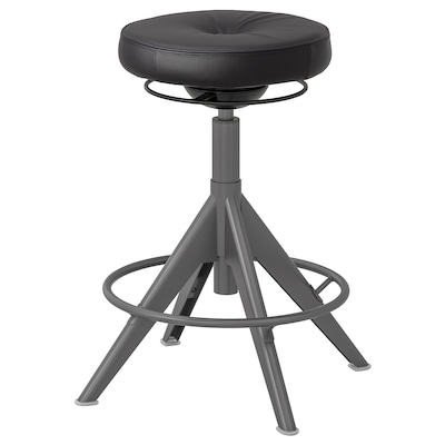 TROLLBERGET Active sit/stand support, Glose black