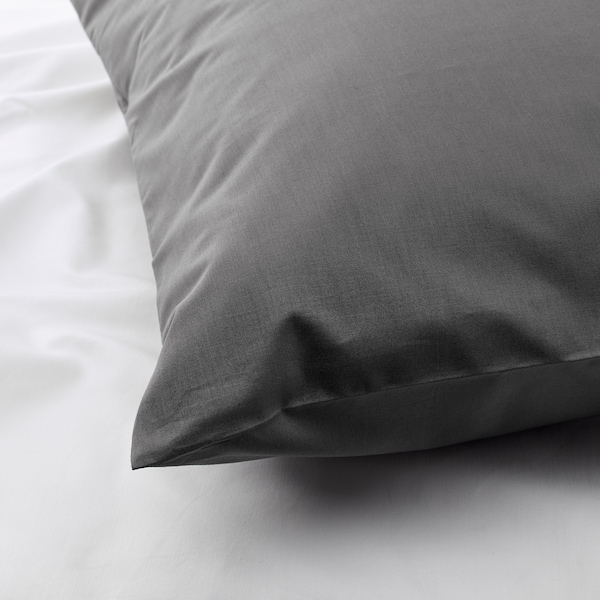 ULLVIDE Pillowcase, grey, 50x80 cm