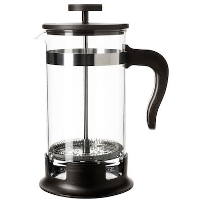 UPPHETTA Coffee/tea maker, glass/stainless steel, 1 l