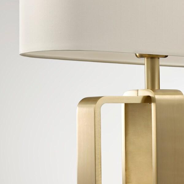 UPPVIND Table lamp, brass-plated/white, 47 cm