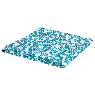 URSPRUNGLIG Tablecloth, white/blue, 145x145 cm