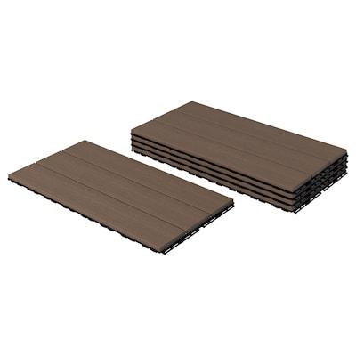 UTLÄNGAN Floor decking, outdoor, brown, 0.90 m²