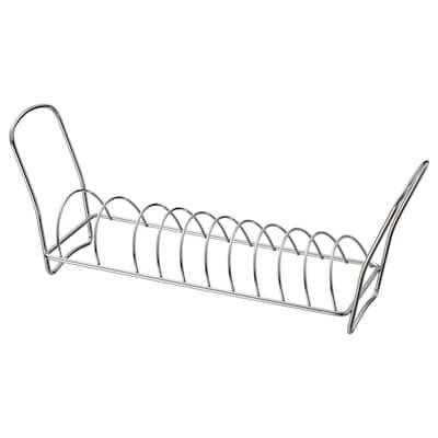 VÄLVÅRDAD Dish drying rack, stainless steel, 12x32 cm