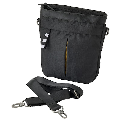 VÄRLDENS Crossbody bag, black, 17x5x20 cm/2 l
