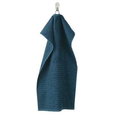 VÅGSJÖN Hand towel, dark blue, 40x70 cm