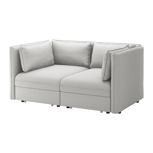 Vallentuna 2 Seat Modular Sofa W 2 Sofa Beds Orrsta Light Grey Ikea