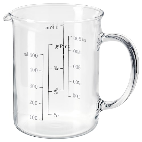 VARDAGEN measuring jug glass 0.5 l