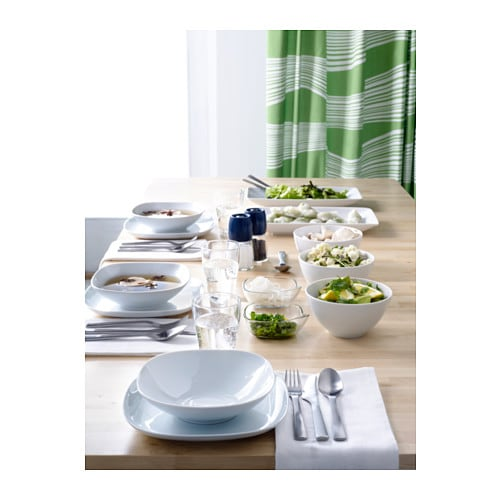 VÄRDERA Deep plate IKEA Made of feldspar porcelain, which makes the plate impact resistant and durable.