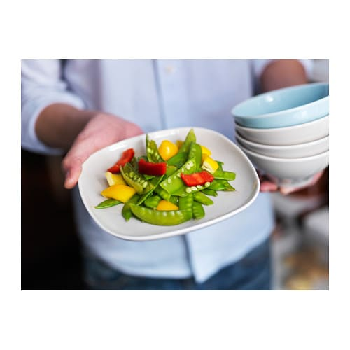 VÄRDERA Side plate IKEA Made of feldspar porcelain, which makes the side plate impact resistant and durable.
