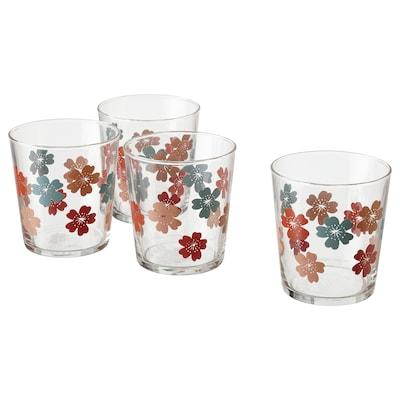 VÅRFINT Glass, glass/patterned, 30 cl