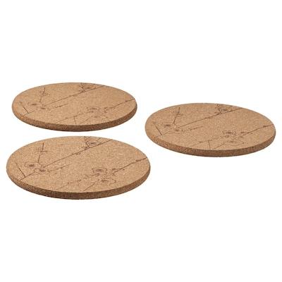 VÅRFINT Pot stand, cork patterned, 19 cm