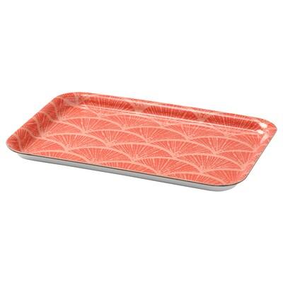 VÅRFINT Tray, patterned, 20x28 cm