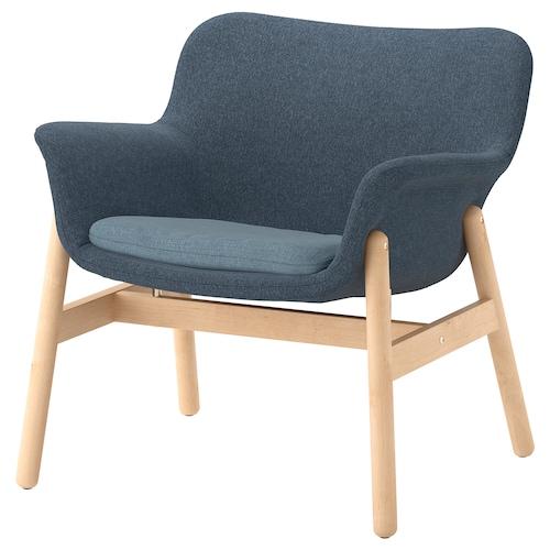 VEDBO armchair Gunnared blue 75 cm 73 cm 65 cm 24 cm 20 cm 45 cm 48 cm 44 cm