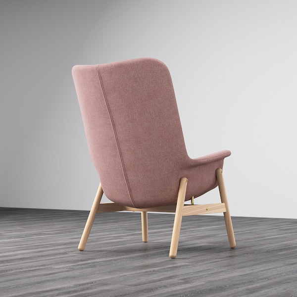 VEDBO High-back armchair - Gunnared light brown-pink - IKEA