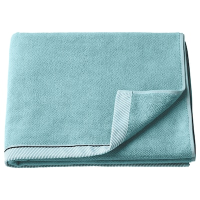 VIKFJÄRD Bath towel, light blue, 70x140 cm