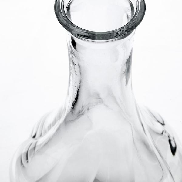 VILJESTARK Vase, clear glass, 17 cm
