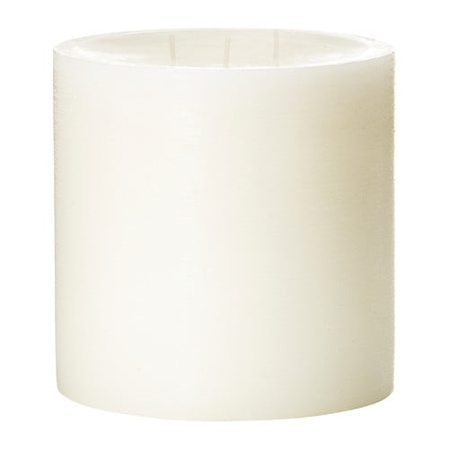 VILLIG Scented candle with 3 wicks IKEA A soft scent of flowers and musk create a romantic atmosphere.