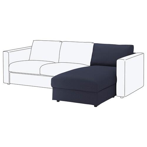 VIMLE chaise longue section Orrsta black-blue 83 cm 68 cm 81 cm 164 cm 6 cm 81 cm 125 cm 48 cm 190 l