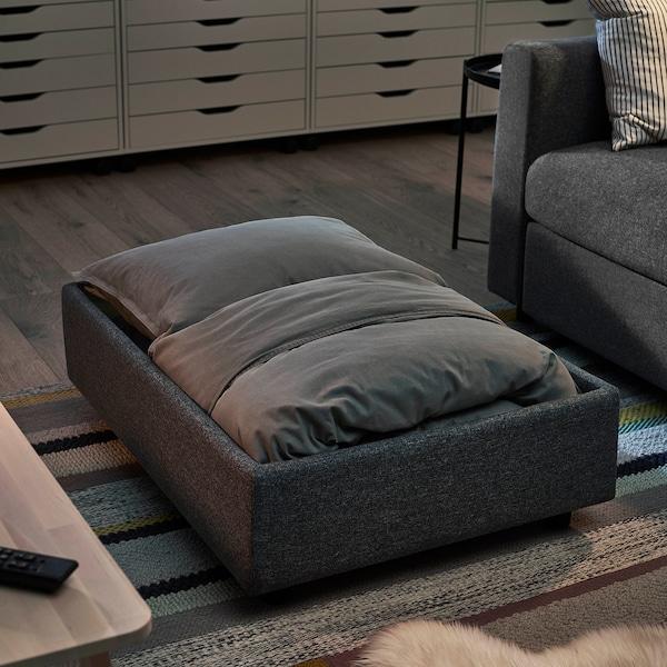 VIMLE Footstool with storage, Gunnared medium grey