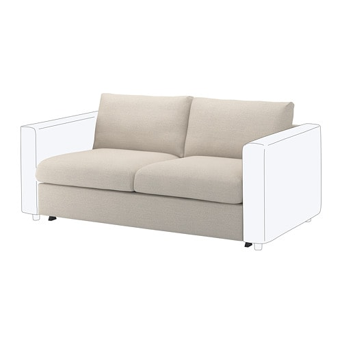 Vimle 2 Seat Sofa Bed Section Gunnared Beige Ikea